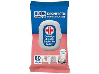 Desinfectiedoekjes Blue Wonder pak a 80 doekjes