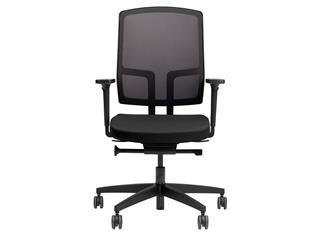 Bureaustoel Be Proud 100 geheel zwart. Inclusief 4D armleggers.