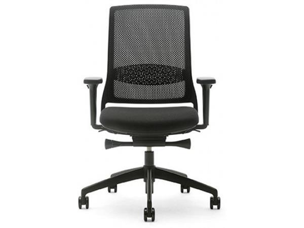 Gispen Zinn Bureaustoel.Online Bureaustoel Gispen Zinn Smart Zwart Voetkruis Gemonteerd